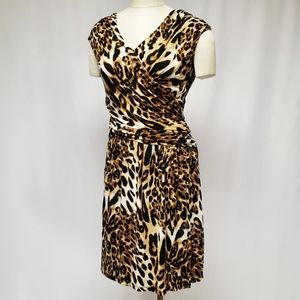 Ronni Nicole Animal Printed Midi Dress